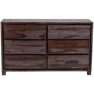 Porter Big Sur Grey Wash Sheesham 6 Drawer Dresser