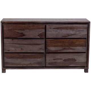 Handmade Porter Big Sur Grey Wash Sheesham 6 Drawer Dresser (India)