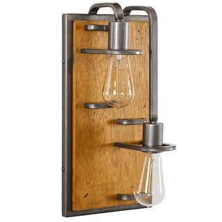 Varaluz Lofty 2-light Steel and Wheat Right Wall Sconce