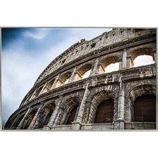 The Colosseum Silvertoned Metal Fame 24-inch x 36-inch Print