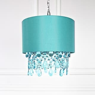 Purple ceiling lights for less overstock tracy porter poetic wanderlust purple 175 inch high alisal hanging lamp with cascading crystals mozeypictures Images