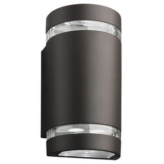 Led lithonia lighting outdoor lighting for less overstock lithonia lighting dark bronze led outdoor cylinder updownlight aloadofball Image collections