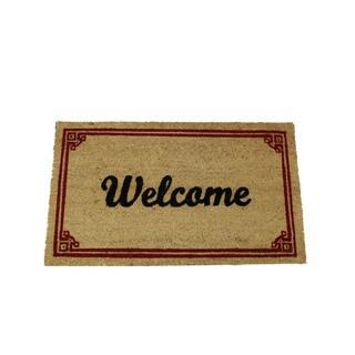 Red Coir 17-inch x 29-inch 'Welcome' Door Mat