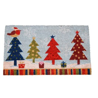 Christmas Tree Multicolor Coir 17-inch x 29-inch Doormat