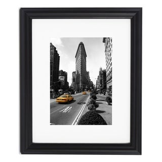 Decorative Black Picture Frame with Optional White Mat