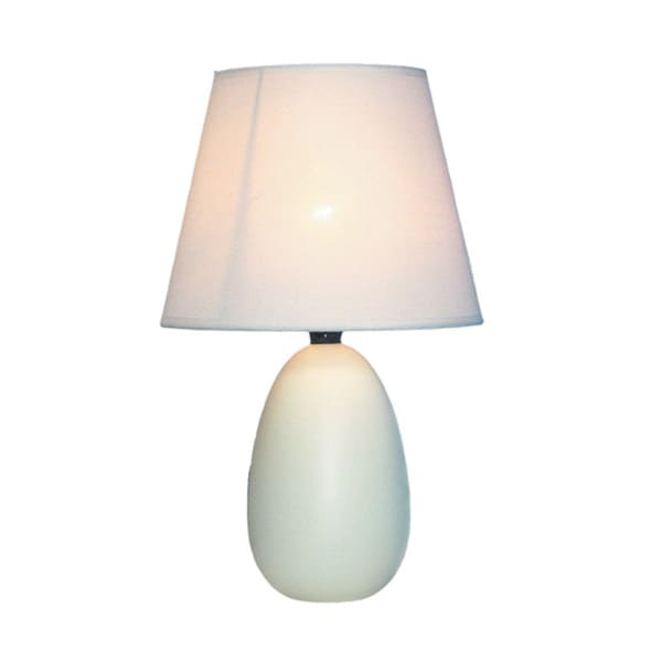 Ceramic Mini Egg Oval Table Lamp
