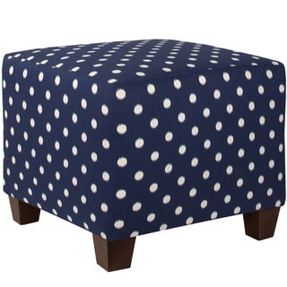 Skyline Furniture Ikat Dot Sunshine Blue Ottoman