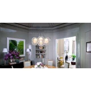 Ara 7-Light Glass Sphere Rectangular LED Chandelier