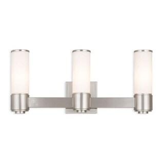 Livex Lighting Weston Brushed Nickel 3-Light Wall Sconce/ Bath Light