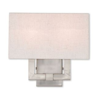 Livex Lighting Meridian, 2 Lights, Brushed Nickel Wall Sconce