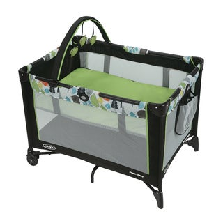 Graco Bear Trail Pack 'n Play Green Automatic Folding Feet Playard