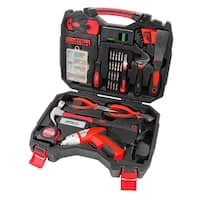 160-Piece Household Tool Kit with 4.8V Cordless Screwdriver