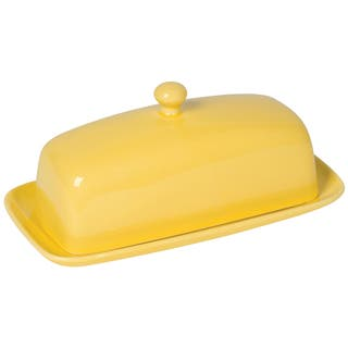 Kitchen Rectangular Butter Dish Lemon by Now Designs|https://ak1.ostkcdn.com/images/products/14655395/P21192634.jpg?impolicy=medium