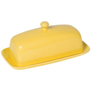 Kitchen Rectangular Butter Dish Lemon by Now Designs