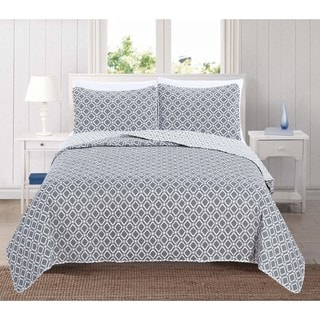 Home Fashion Designs Liliana Collection 3-Piece Printed Quilt Set