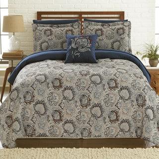 Amraupur Overseas Corsicana 8-Piece Printed Reversible Complete Comforter Bed Set