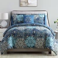 Amraupur Overseas Granada 8-Piece Printed Reversible Comforter Complete Bed Set