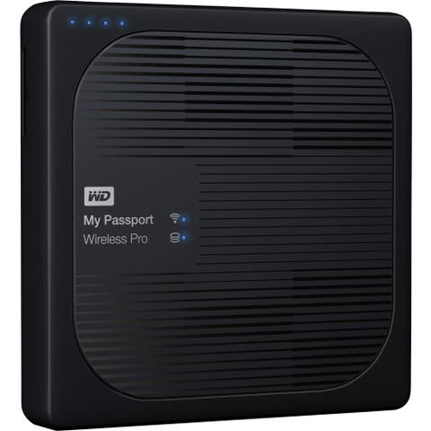 WD 4TB My Passport Wireless Pro Portable External Hard Drive - WiFi AC, SD, USB 3.0