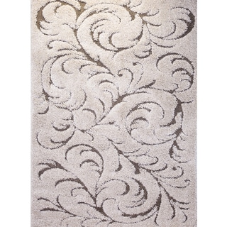Home Dynamix Canyon Collection Ivory/Beige Elegant Area Rug (19 x 72) (ivory)