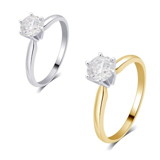 Divina 14K Gold 1/3ct TDW Diamond Solitaire Engagement Ring I2) (More options available)