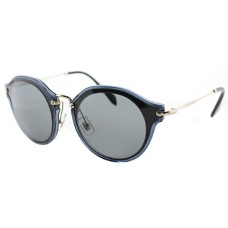 Miu Miu MU 51SS 1AB9K1 Black Plastic Cat-Eye Sunglasses Grey Lens