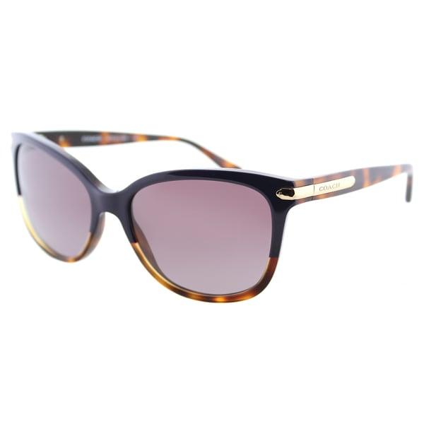 b135924faa Coach HC 8132 54398H L109 Confetti Purple Plastic Cat-Eye Sunglasses Purple  Gradient Lens