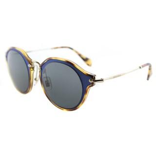 Miu Miu MU 51SS VA71A1 Matte Azure Plastic Cat-Eye Sunglasses Grey Lens