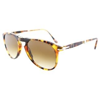 Persol PO 9714S 105251 717 Series Foldable Madreterra Plastic Aviator Sunglasses Brown Gradient Lens