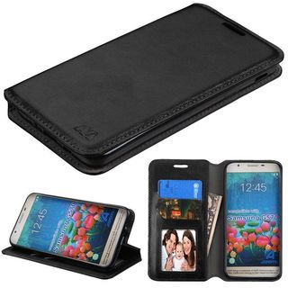 Insten Black Leather Case Cover with Stand/ Wallet Flap Pouch/ Photo Display For Samsung Galaxy On5 (2016)