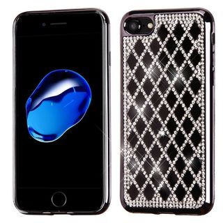 Insten Black Hard Snap-on Diamond Bling Case Cover For Apple iPhone 7
