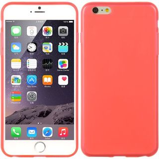 Insten Hot Pink TPU Rubber Candy Skin Case Cover For Apple iPhone 6 Plus/ 6s Plus