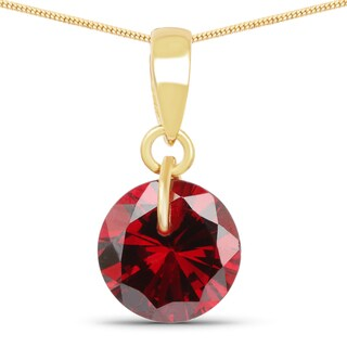 Liliana Bella Gold Plated Red Cubic Zirconia Solitaire Pendant