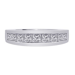 14k White Gold 1ct TDW Diamond Wedding Band (G-H, I1)