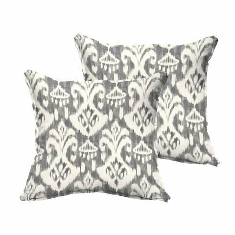 Rainford Grey/ Cream Indoor/ Outdoor Flange Pillow Set
