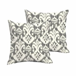 Rainford Grey/ Cream Indoor/ Outdoor Knife Edge Decorative Throw Pillow