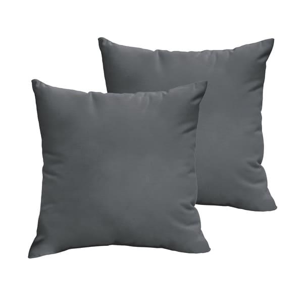 Shelton Sunbrella Charcoal Indoor/ Outdoor Knife Edge Pillow Set