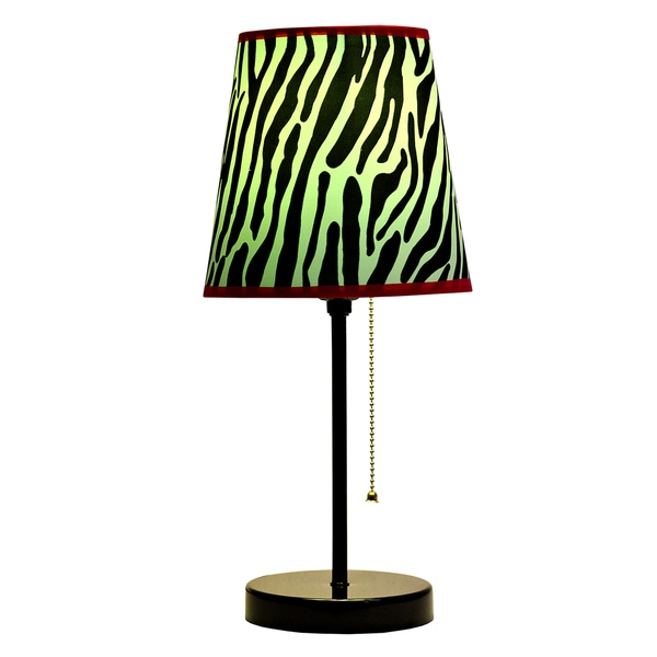Limelights Fun Prints Zebra Funky Pattern Table Lamp