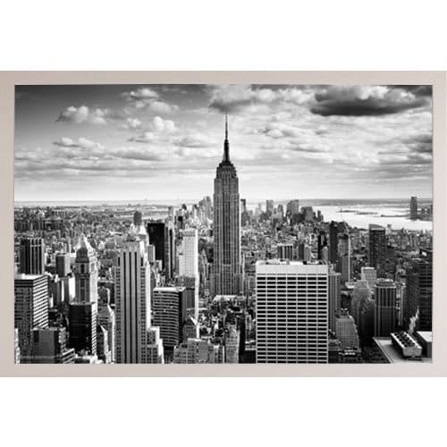 Shop Empire State Black and White White Poly Frame 36 x 24-inch ...