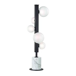 Hudson Valley Mini Hinsdale 5-light LED Old Bronze Table Lamp