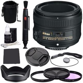Nikon AF-S NIKKOR 50mm f/1.8G Lens Bundle