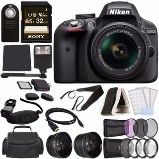 Nikon D3300 Digital DSLR 18-55 VR AF-P Bundle 1