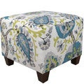 Skyline Furniture Ladbroke Peacock Ottoman