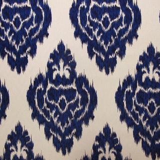 Skyline Furniture Diamond Blue Nail Button Storage Ottoman