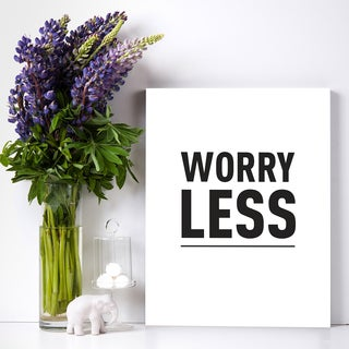 Mod Made 'Worry Less' Canvas Wall Art