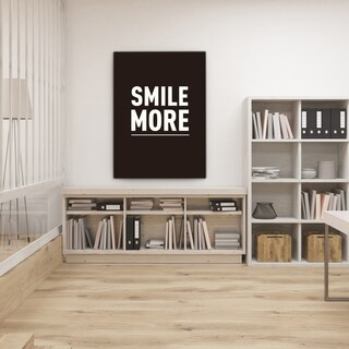 Mod Made 'Smile More' Canvas Wall Art
