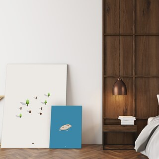 Mod Made 'Simply White' Canvas Wall Art - White