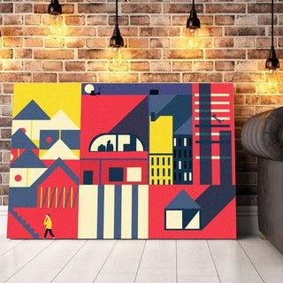 'Color Maze' Canvas Wall Art - Multi