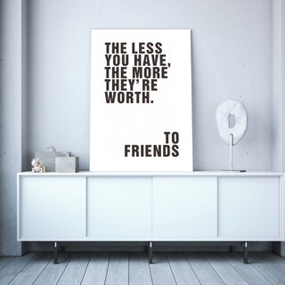 To Friends Canvas Wall Art - Brown