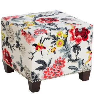 Skyline Furniture Candid Moment Ebony Nail Button Ottoman
