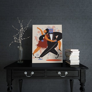 'Dance with Me' Canvas Wall Art - Black